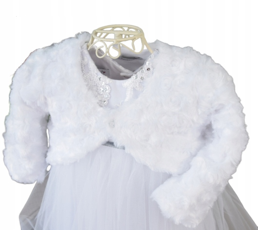 Bolerko wdzianko sweterek BIAŁY wesele sesja 68