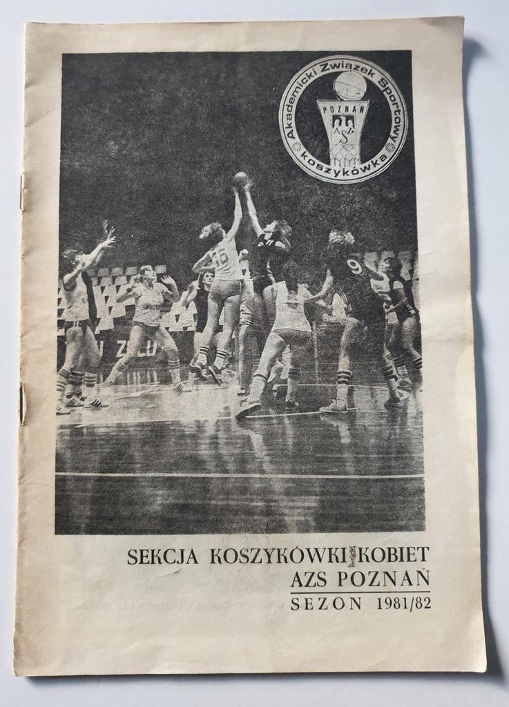 PROGRAM AZS POZNAŃ KOSZYKÓWKA KOBIET SEZON 1981/82