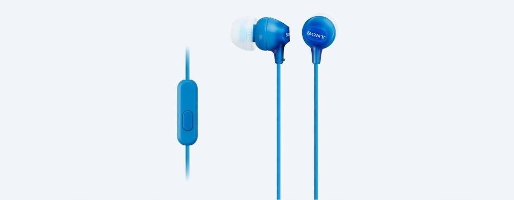 Słuchawki handsfree mikrofon MDR-EX15AP Blue