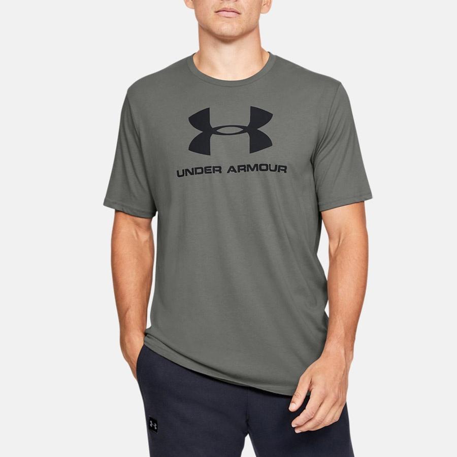 Koszulka UA Sportstyle Logo SS grafitowy S!