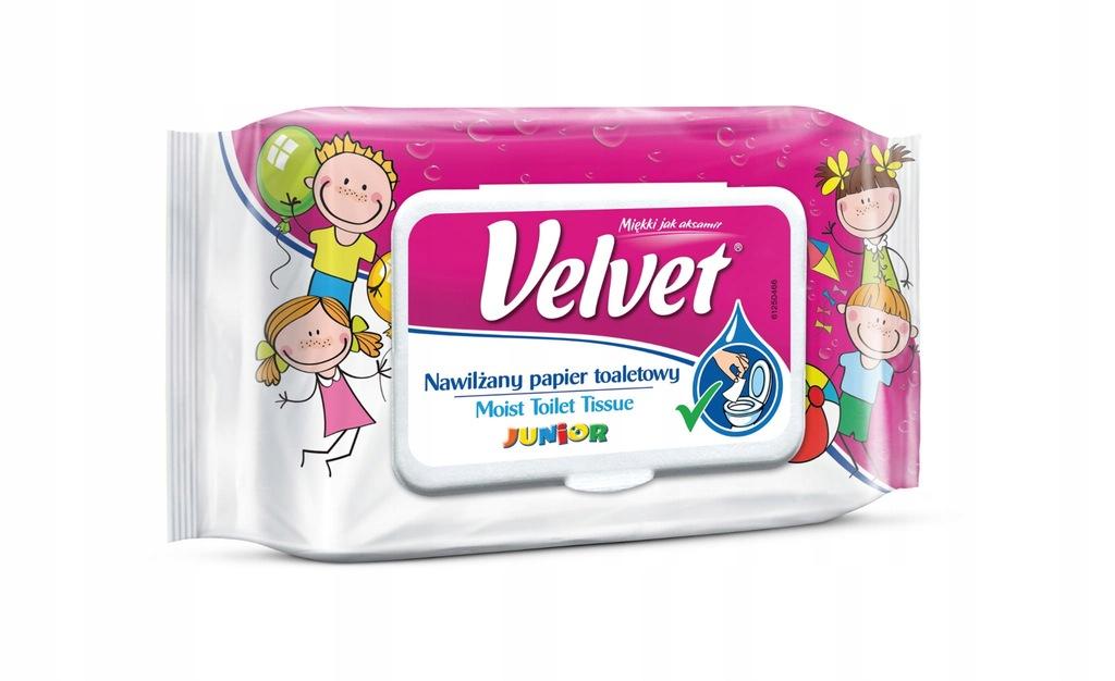 VELVET Nawilżany Papier toaletowy Moist Junior 42