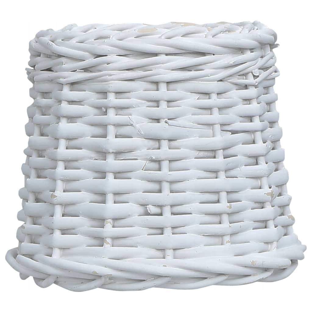 Wiklinowy klosz, 25 x 17 cm, biały