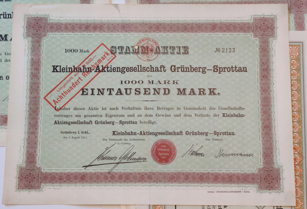 A01.Akcja Kleinbahn Grunberg-Sprottau Zielona Góra