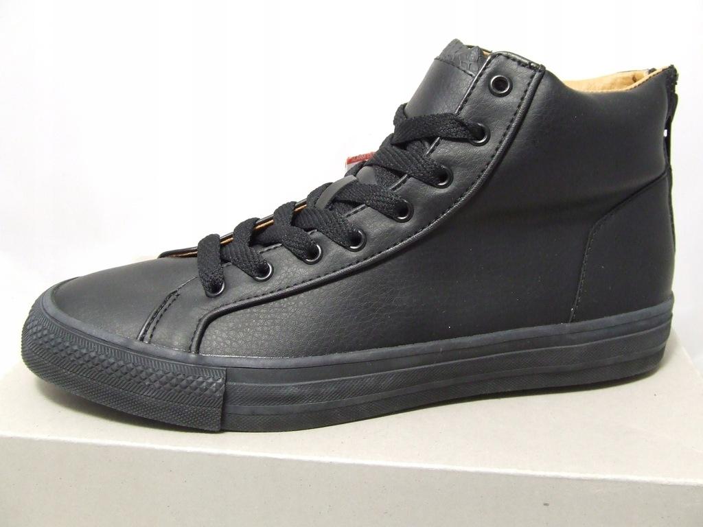 Bershka męskie obuwie sportowe czarne roz.41