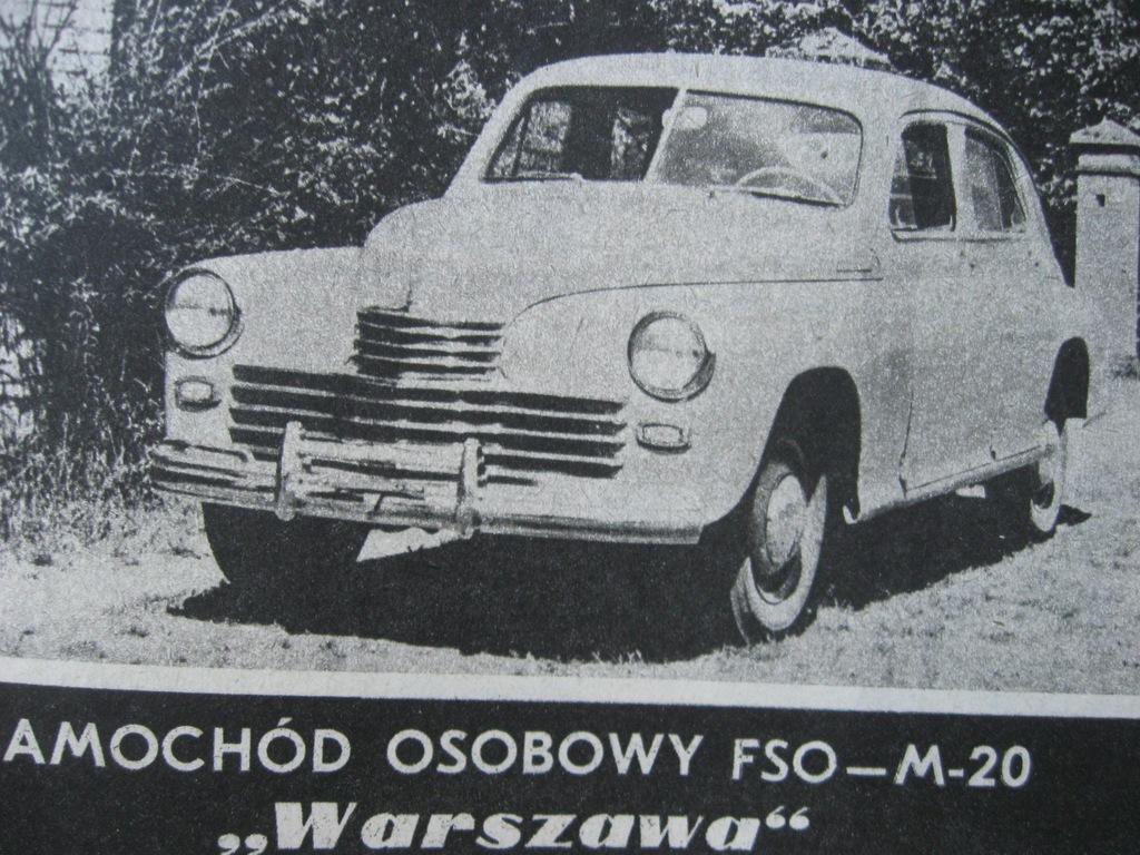 MODELARZ FSO Warszawa M-20 Plan 1988