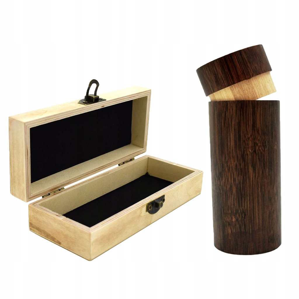 Naturalne drewniane etui na okulary