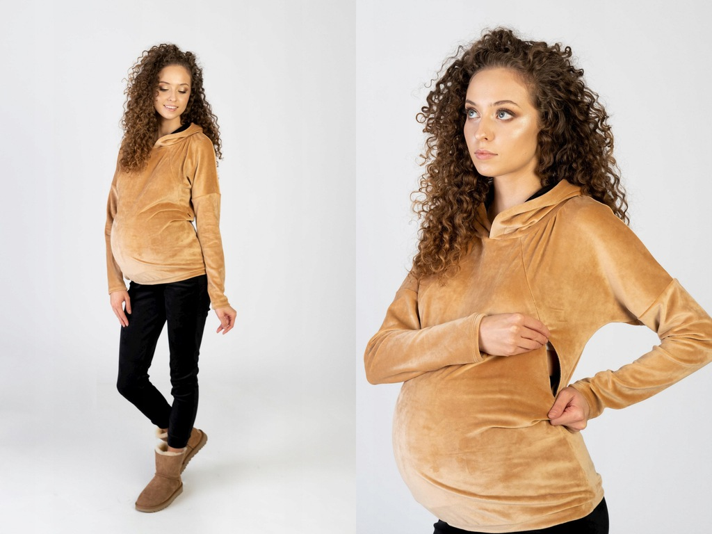 Komplet dresowy ciążowy i do karmienia Jane beż 44