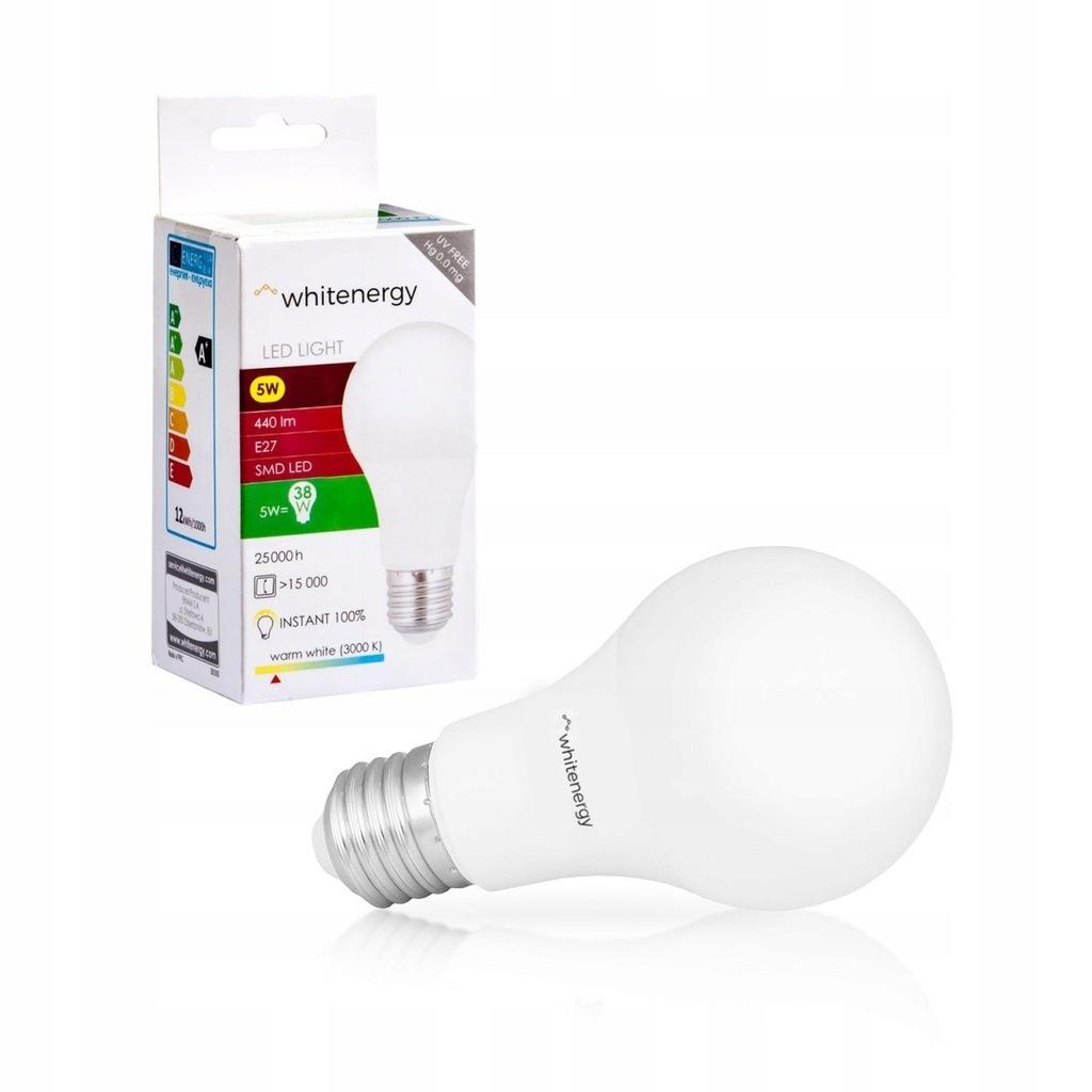 Żarówka LED A60 E27 5W 440lm ciepła biała