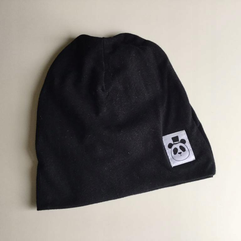 Mini Rodini czarna czapka 48/50