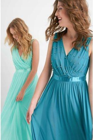 Sukienka maxi zieleń butelkowa rozm. 36 nowa