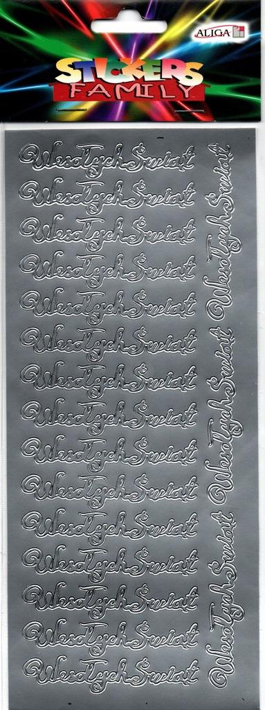 """Naklejki napis """"Wesołych Świąt"""" silver"""
