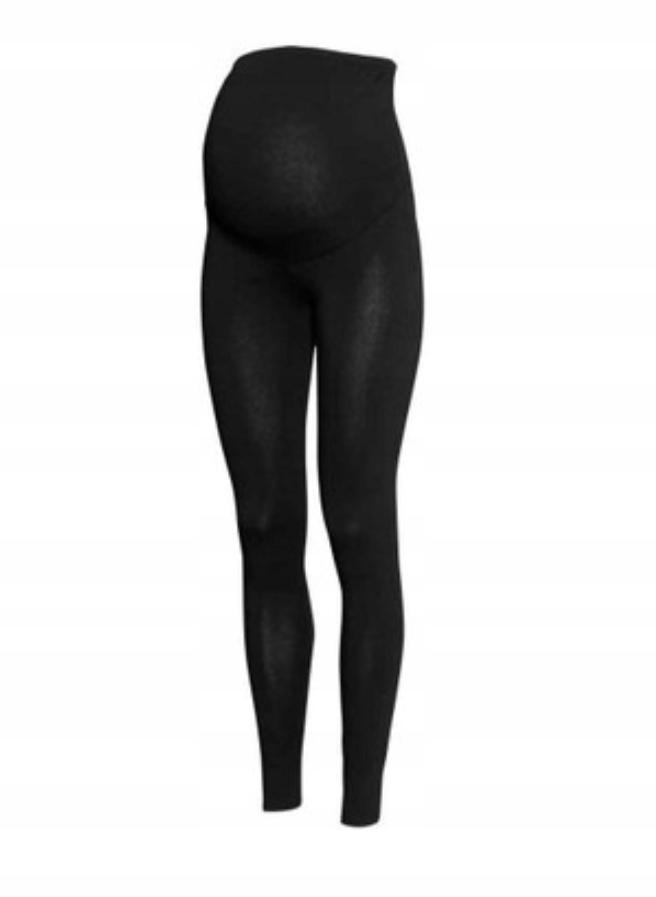 H&M MAMA legginsy ciążowe czarne długie 36 S