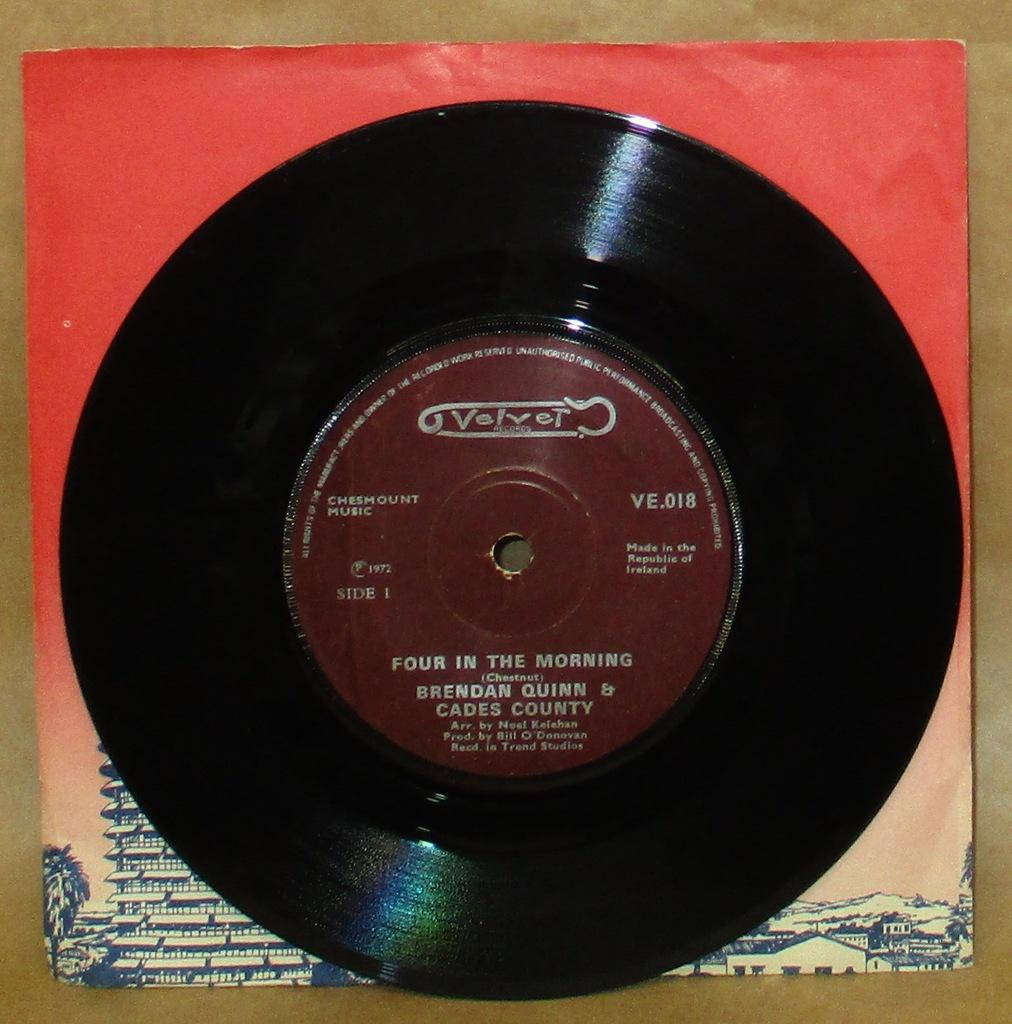 BRENDAN QUINN FOUR IN THE MORNING 7' SINGIEL 1972