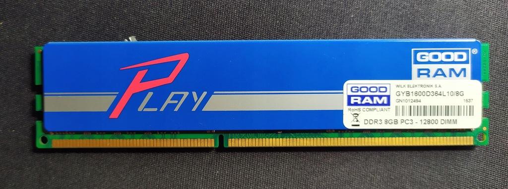 Pamięć GoodRam Play DDR3 8GB 1600
