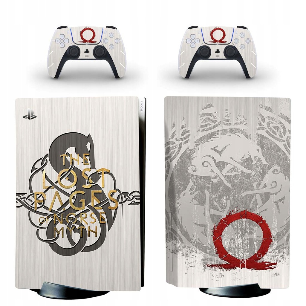 PlayStation 5 naklejka skórka ochronna God of War