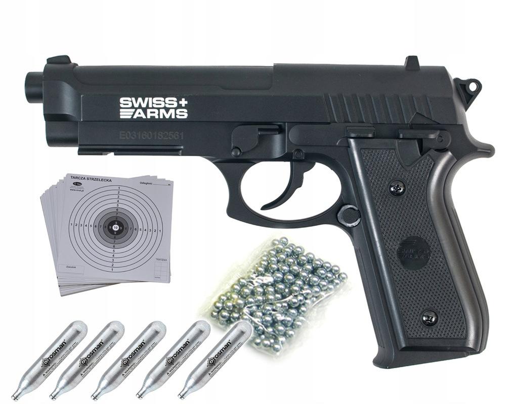 Wiatrówka CO2 Cybergun Swiss Arms PT92 4,5 mm BB
