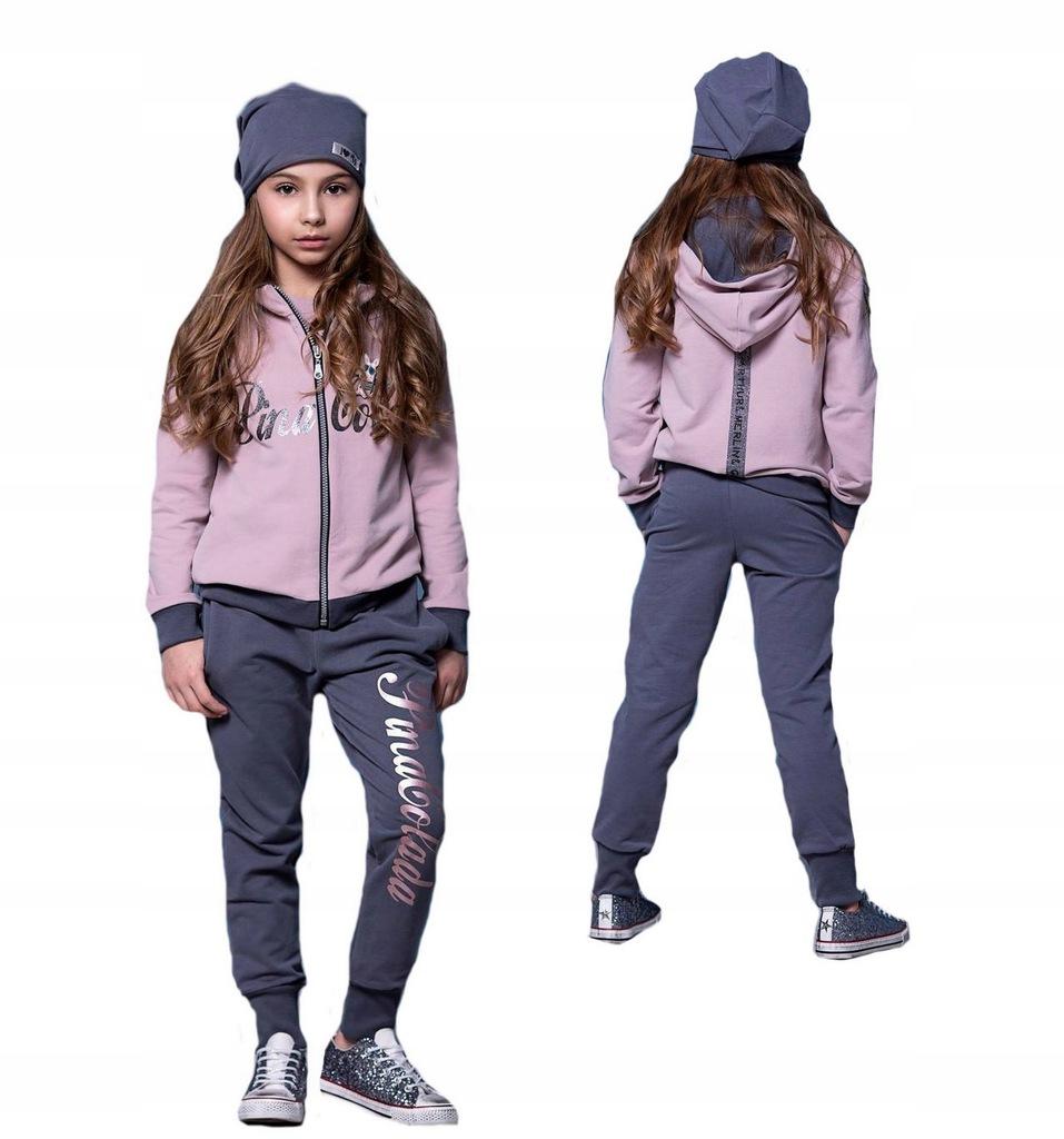 Dres komplet bluza spodnie MałaMi 134-140