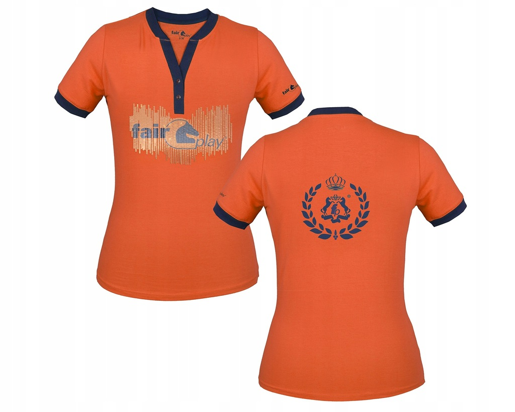 Koszulka jeździecka Fair Play Tika morelowa S 34