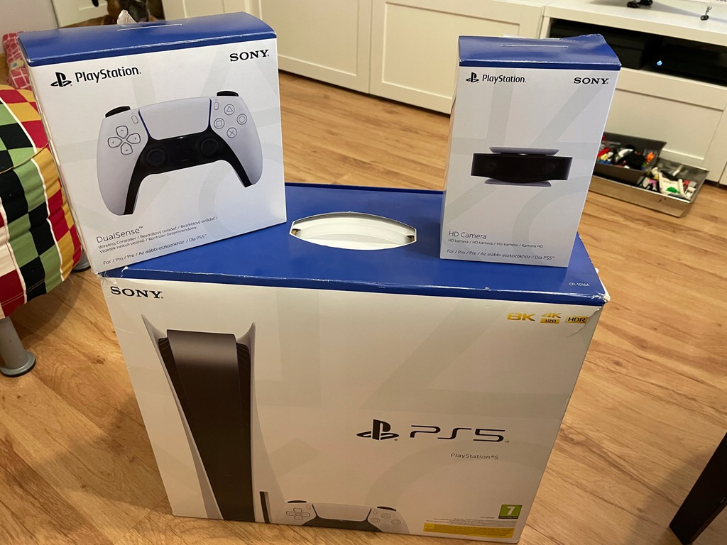 Playstation 5 - 2 pady, kamera zestaw, Gwarancja