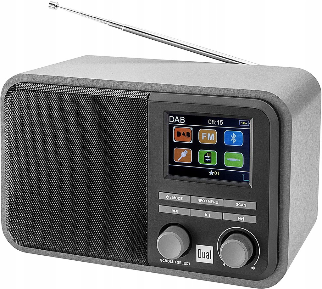 RADIO CYFROWE DAB 51 DUAL 75299 BLEUTOOTH DAB+FM N