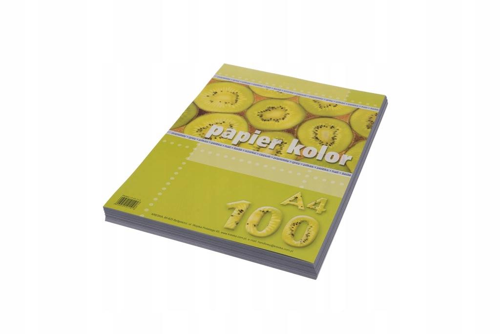 Papier kolor A4 80g/m2 popielaty op. 100 ark., Kre
