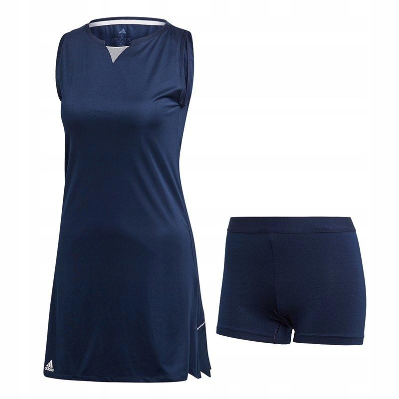 L4866 ADIDAS sukienka tenisowa R. S GRANATOWA