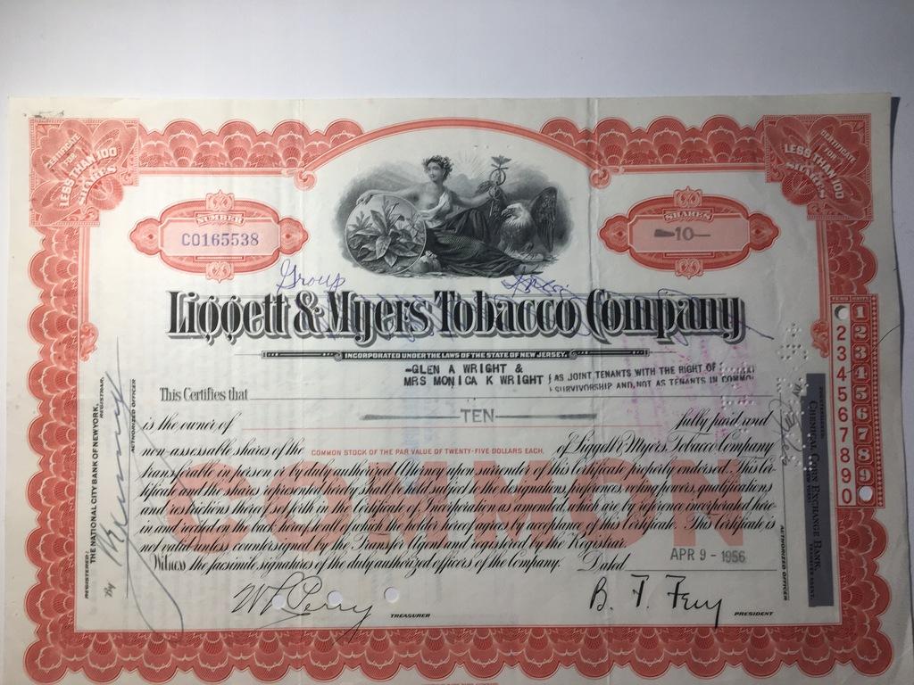 LM LIGGETT & MYERS TOBACCO COMPANY
