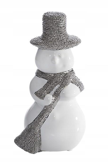 Figurka HENRY biało-srebrna 9X7X17/x2