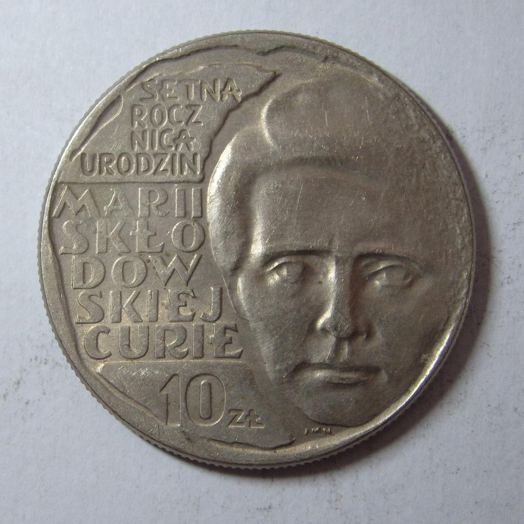 10zł M. Skłodowska Curie 1967r. PRL BCM(907n)