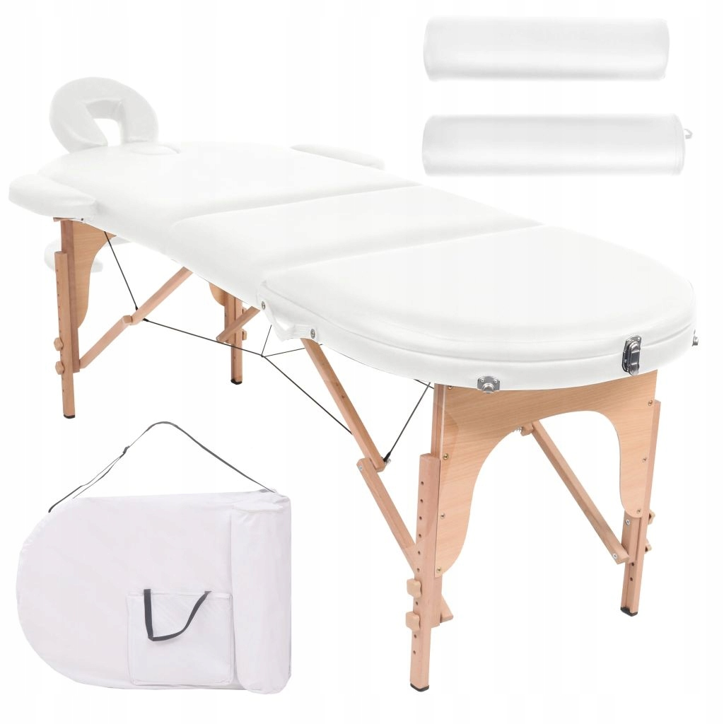 Składany stół do masażu z 2 wałkami, grubość 10 cm