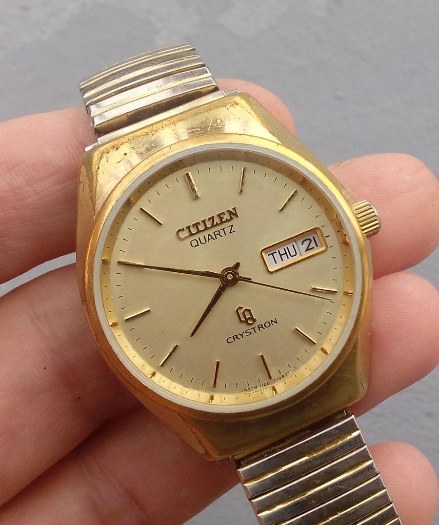 Markowy, męski zegarek Citizen CRYSTRON GN-4W-S