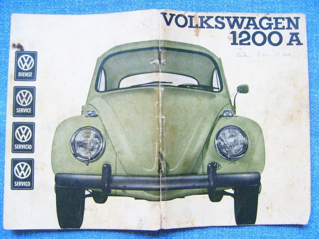 VW VOLKSWAGEN KAFER 1964 GARBUS ORYG. INSTR. OBSŁ.