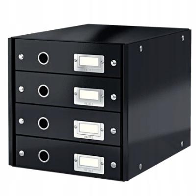 Pojemnik z 4 szufladkami Leitz C&S czarny