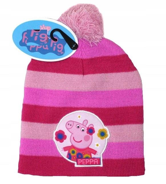 Świnka Peppa 52 ciepła zimowa czapka Pig 2 - 5 LAT