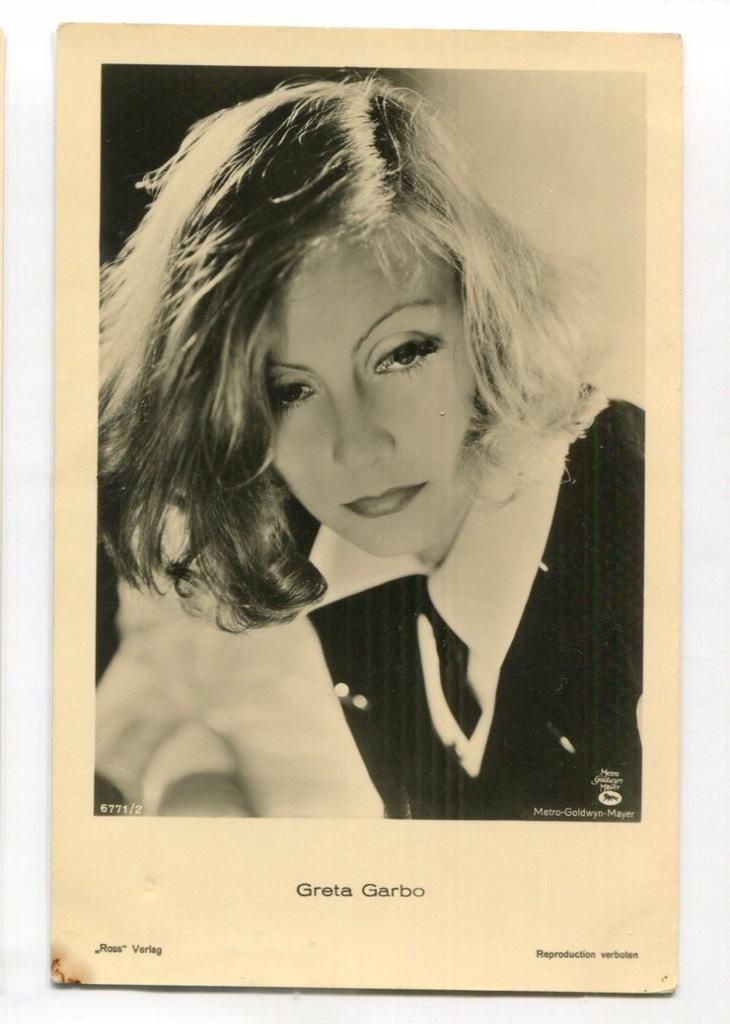Greta Garbo Kino Film Aktorka Foto Pocztówka 48