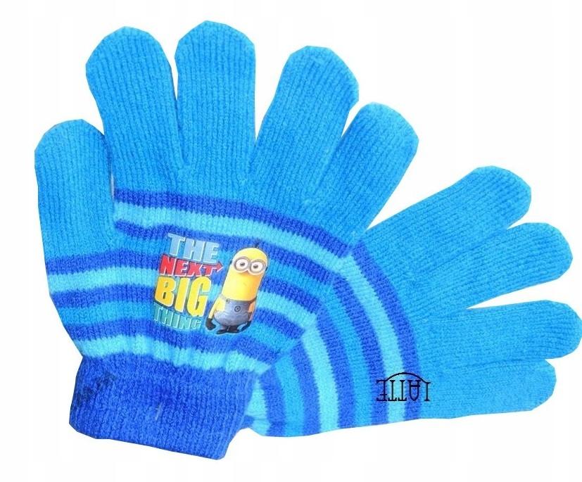Minionki Minions 5 palczaste rękawiczki 5-8 lat