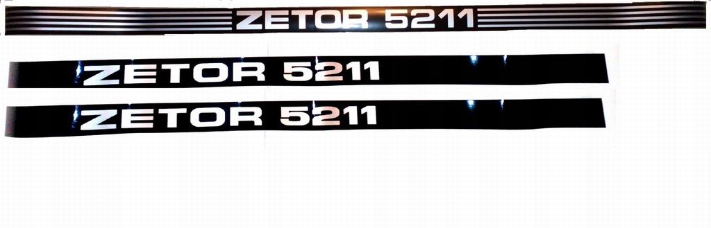 Napisy Zetor 5211 maska tył kabiny komplet