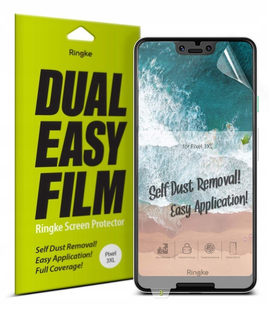 Folia Ringke Dual Easy Full Cover Google Pixel 3 X