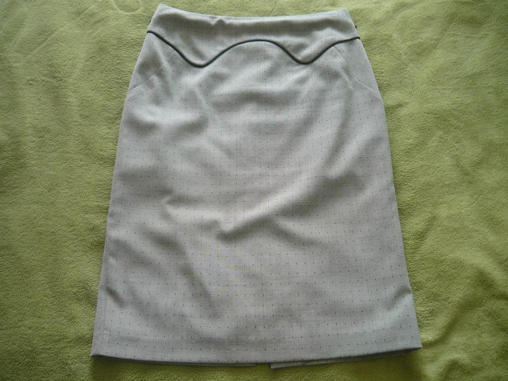 NEXT spódnica szara czarne groszki ołówkowa roz.38