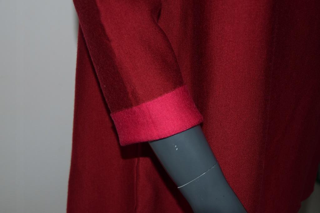 cos czerwony sweter wełna A-line r. S