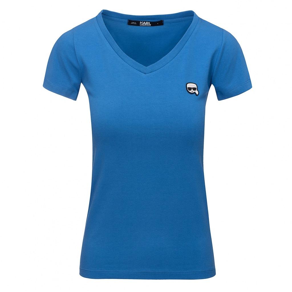 Karl Lagerfeld t-shirt koszulka damska niebieska M