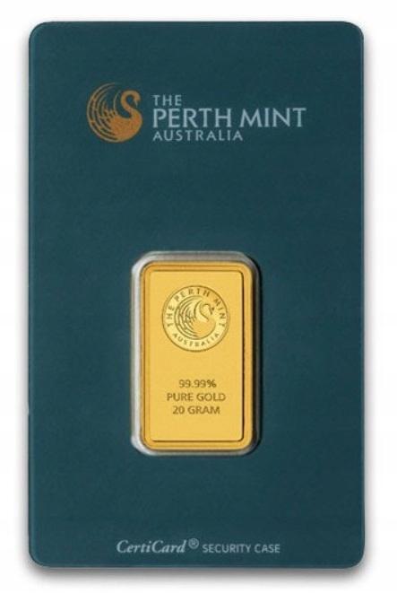 20 gram Au 99,99 - Sztabka Perth Mint