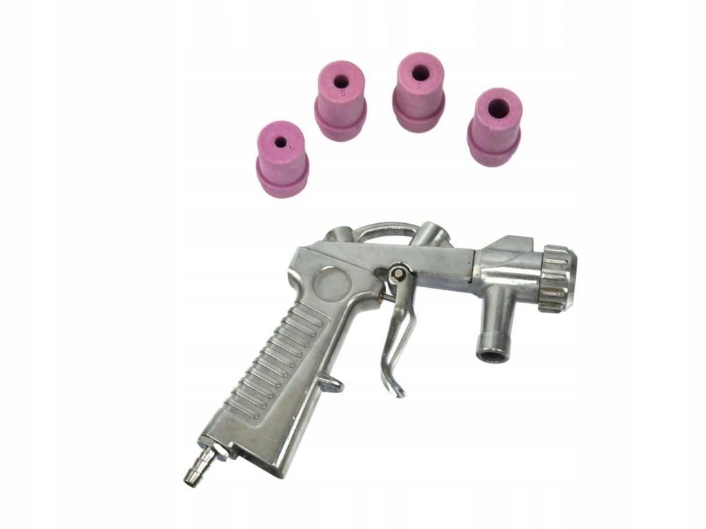 Pistolet do piaskowania + 4 dysze (50) GEKO G02006