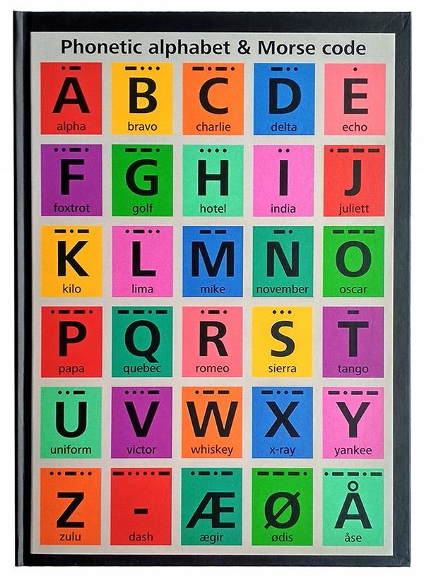 Notatnik A4 w linie notes Alfabet Morsea brulion