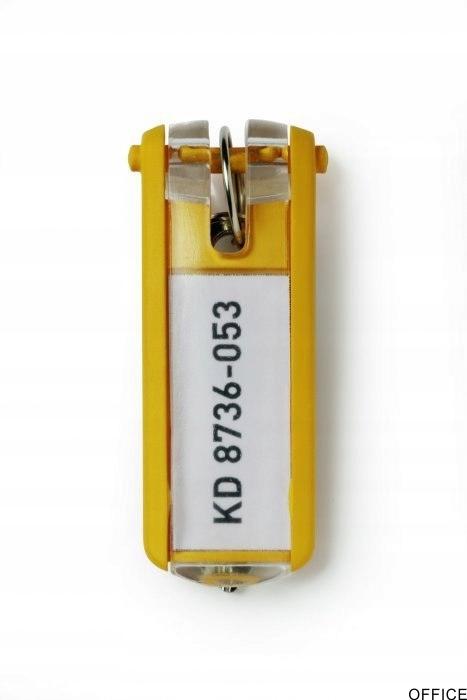 Zawieszki do kluczy KEY CLIP (6szt.) żółte DURABLE