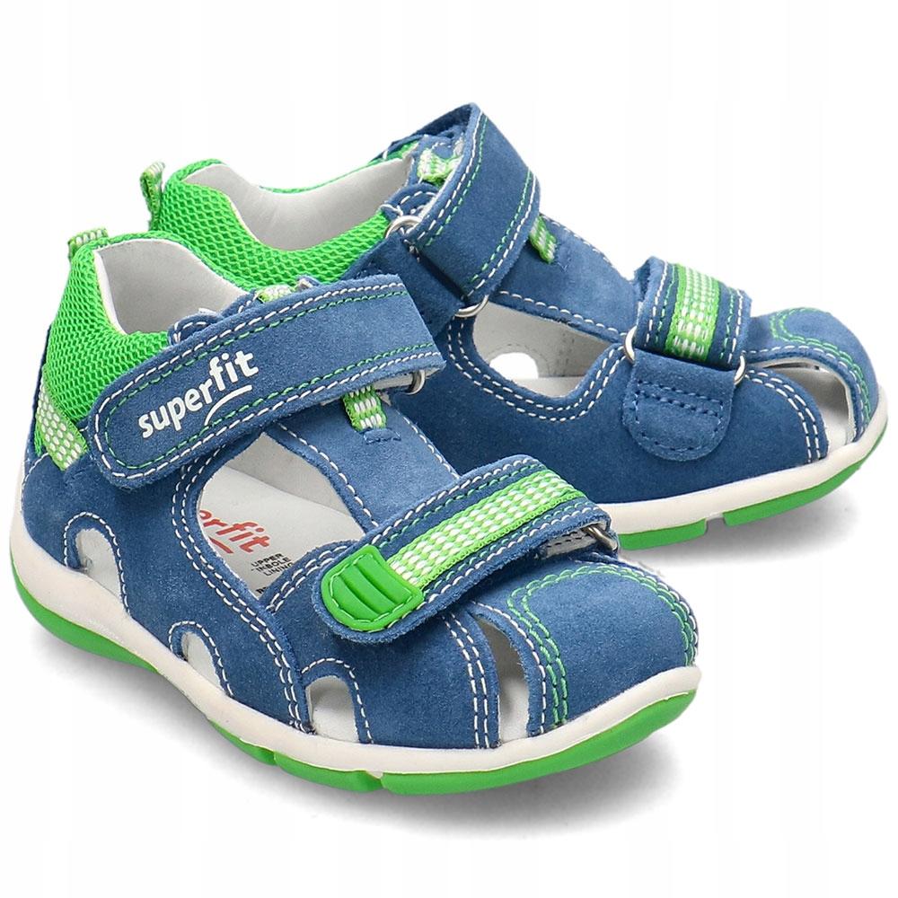 Superfit Niebieskie Sandały Dziecięce Rzepy R.21