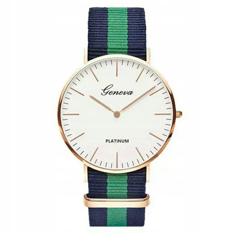 Zegarek Geneva z materiałowym paskiem