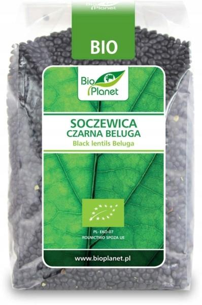 BIO PLANET Soczewica czarna beluga BIO 400g