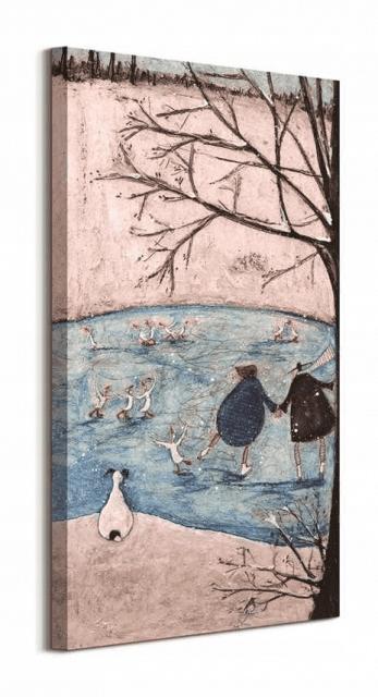 Winter - obraz na płótnie 30x60 cm
