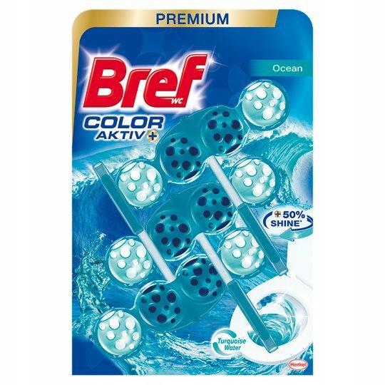 Bref Color Aktiv Ocean Zawieszka do WC 3x50 g
